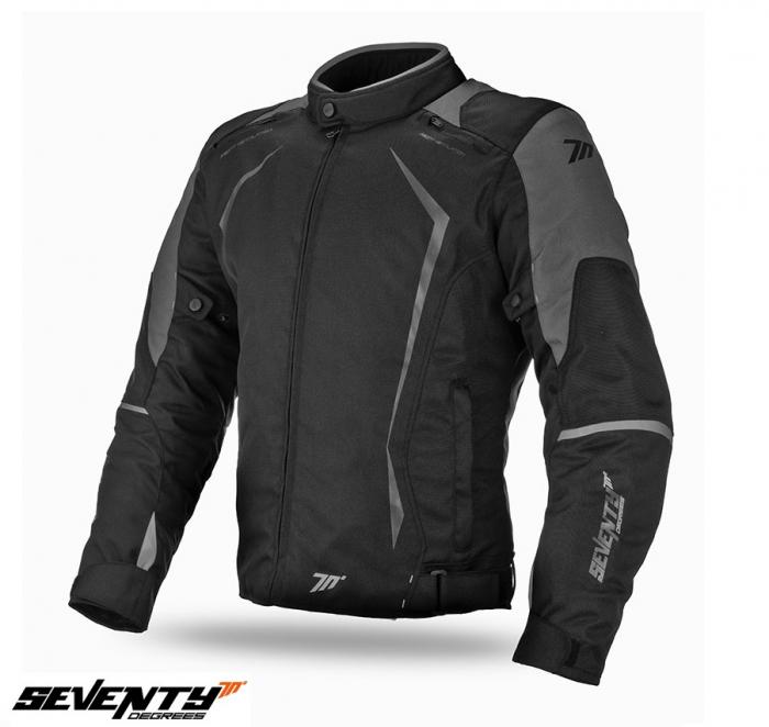 Geaca (jacheta) motociclete barbati Racing Seventy vara/iarna model SD-JR47 culoare: negru/gri [0]