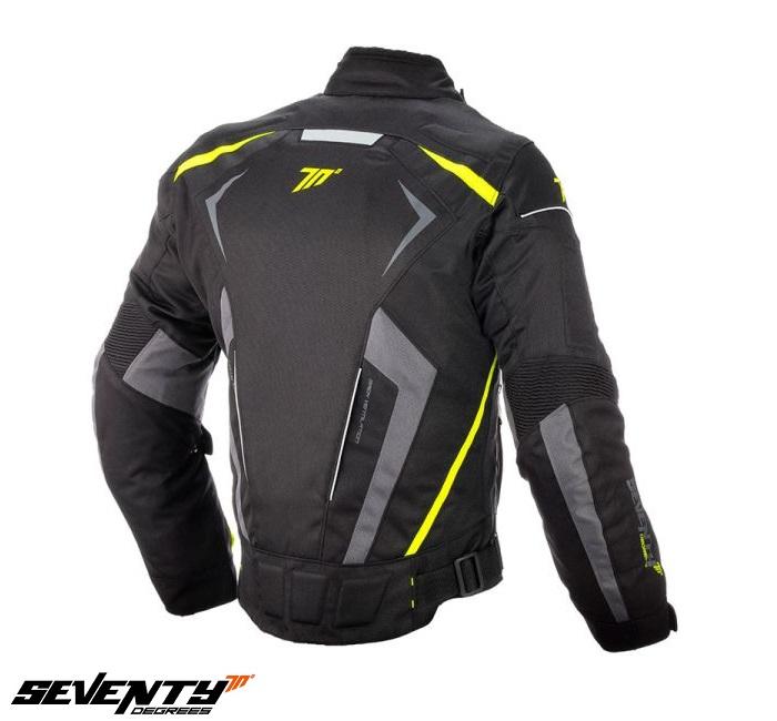 Geaca (jacheta) motociclete barbati Racing Seventy vara/iarna model SD-JR55 culoare: negru/galben fluor [1]