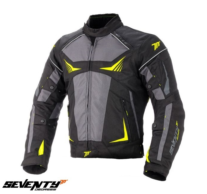 Geaca (jacheta) motociclete barbati Racing Seventy vara/iarna model SD-JR55 culoare: negru/galben fluor [0]