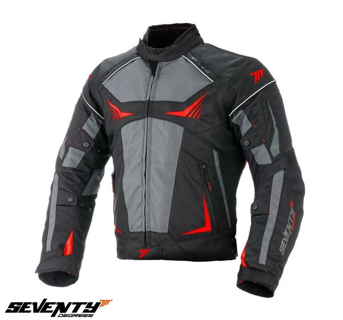 Geaca (jacheta) motociclete barbati Racing Seventy vara/iarna model SD-JR55 culoare: negru/rosu [0]