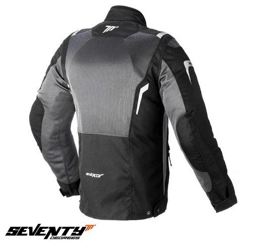 Geaca (jacheta) motociclete barbati Touring Seventy vara model SD-JT44 culoare: negru/gri [1]