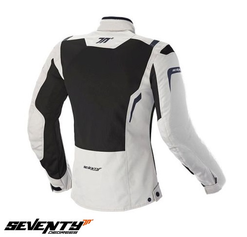 Geaca (jacheta) motociclete femei Touring Seventy vara model SD-JT46 culoare: alb ice/negru [1]