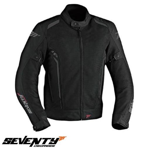 Geaca (jacheta) motociclete femei Touring vara Seventy model SD-JT36 culoare: negru/gri [0]