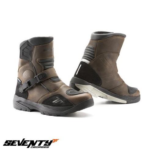 Ghete (cizme) moto Adventure (Touring) Unisex Seventy model SD-BA5 culoare: maro [0]
