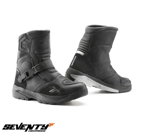 Ghete (cizme) moto Adventure (Touring) Unisex Seventy model SD-BA5 culoare: negru [0]