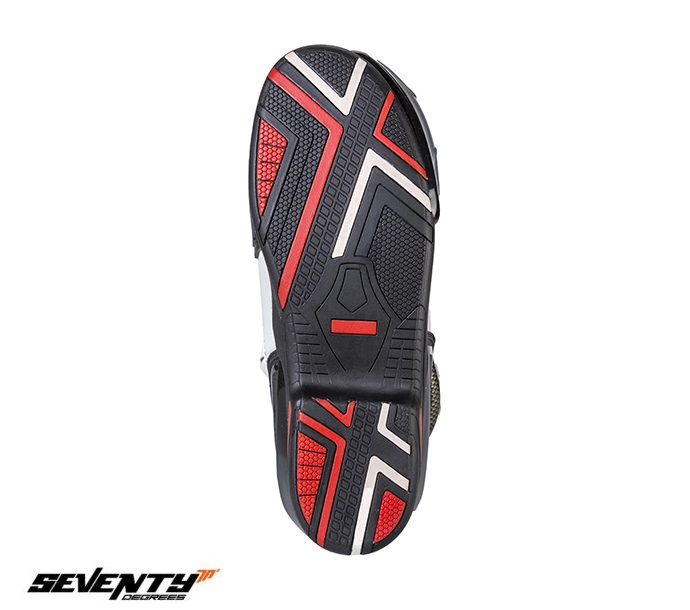 Ghete (cizme) moto Racing Unisex Seventy model SD-BR1 culoare: alb/rosu [1]