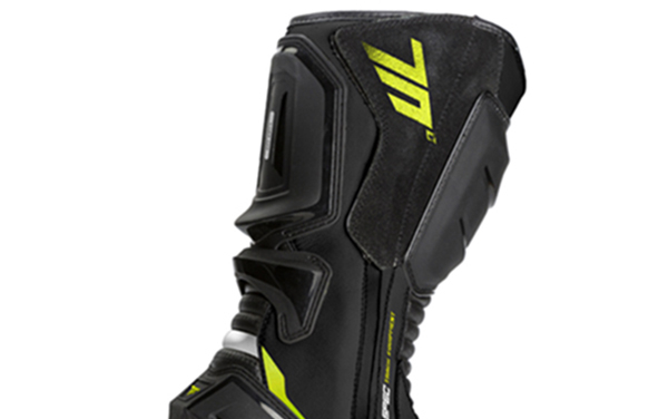 Ghete (cizme) moto Racing Unisex Seventy model SD-BR1 culoare: negru/galben fluor [1]