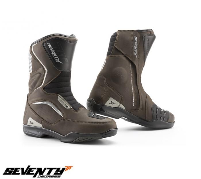 Ghete (cizme) moto Touring Unisex Seventy model SD-BT3 (varianta scurta a ghetelor SD-BT2) culoare: maro [0]