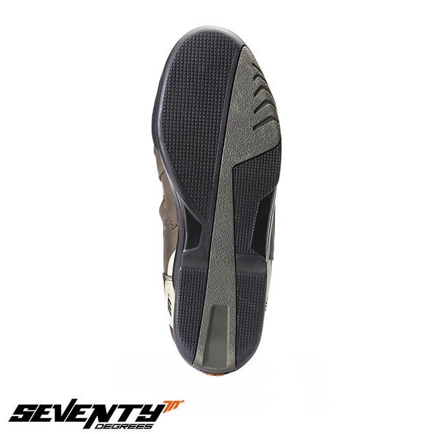 Ghete (cizme) moto Touring Unisex Seventy model SD-BT3 (varianta scurta a ghetelor SD-BT2) culoare: maro [1]