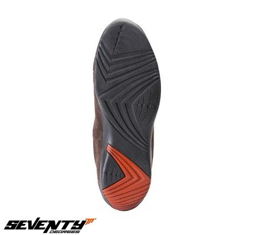 Ghete moto Urban Unisex Seventy model SD-BC8 culoare: maro [1]