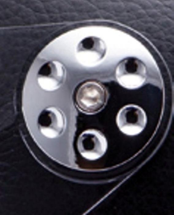 Kit ornamente cromate laterale fixare viziera casca MT Retro Leather (colectia noua) [0]