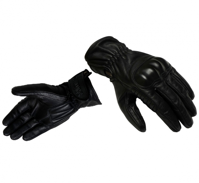 Manusi barbati piele Unik Racing model C-66 vintage culoare: negru [0]