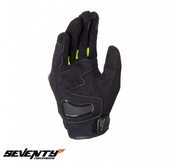 Manusi barbati Racing/Naked vara Seventy model SD-N14 negru/galben – degete tactile [2]