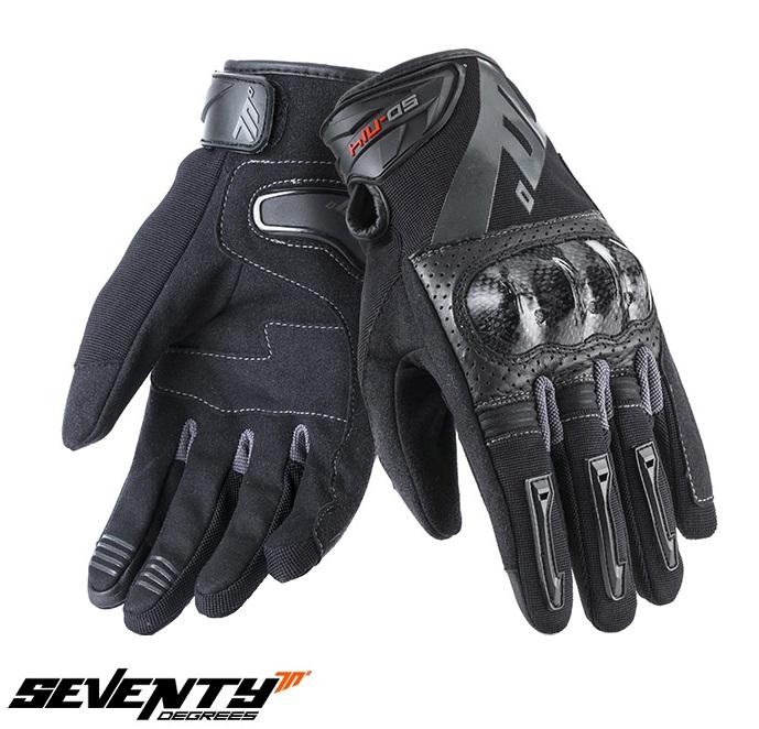 Manusi barbati Racing/Naked vara Seventy model SD-N14 negru/gri – degete tactile [0]