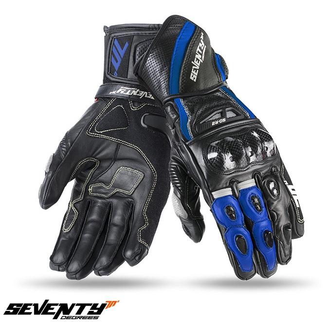 Manusi barbati racing vara Seventy model SD-R2 negru/albastru [0]
