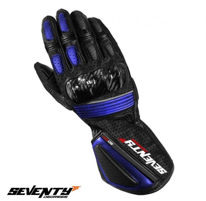 Manusi barbati racing vara Seventy model SD-R4 negru/albastru – marime: XXL (11) [0]