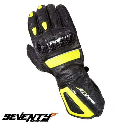 Manusi barbati racing vara Seventy model SD-R4 negru/galben – marime: L (9) [0]