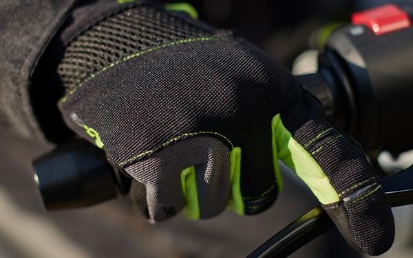 Manusi barbati Urban vara Seventy model SD-C48 negru/galben – degete tactile [2]