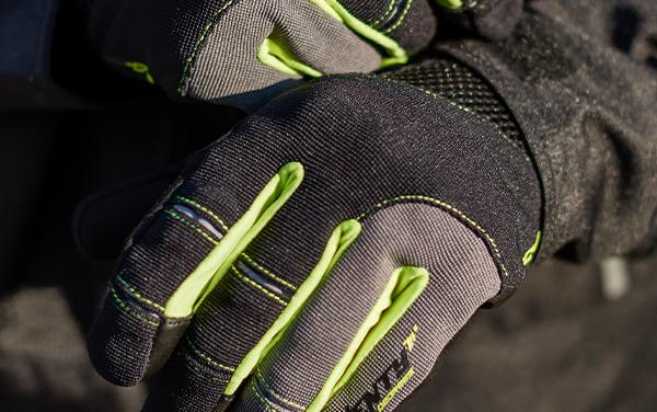 Manusi barbati Urban vara Seventy model SD-C48 negru/galben – degete tactile [3]