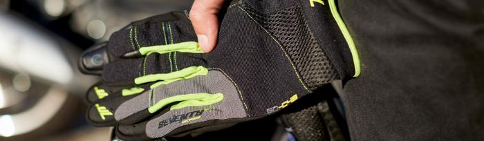 Manusi barbati Urban vara Seventy model SD-C48 negru/galben – degete tactile [4]