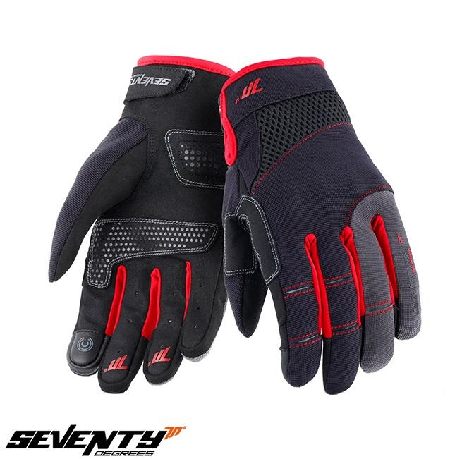 Manusi barbati Urban vara Seventy model SD-C48 negru/rosu – degete tactile [0]
