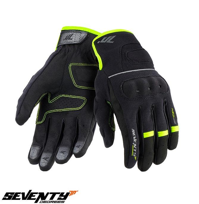 Manusi barbati Urban vara Seventy model SD-C54 negru/galben – degete tactile [1]