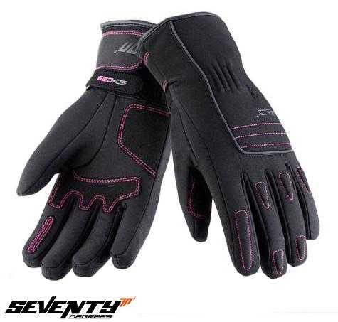 Manusi femei Urban iarna Seventy model SD-C29 negru/roz  – marime: XS (6) [0]