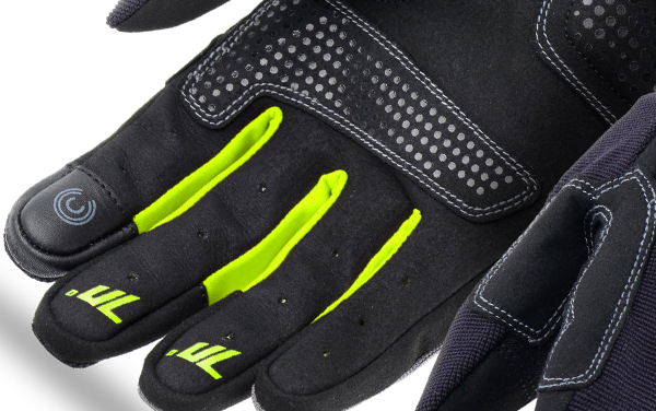 Manusi femei Urban vara Seventy model SD-C50 negru/galben – degete tactile [1]