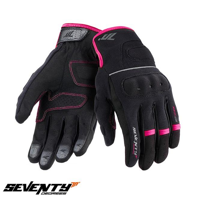 Manusi femei Urban vara Seventy model SD-C56 negru/roz – degete tactile [0]