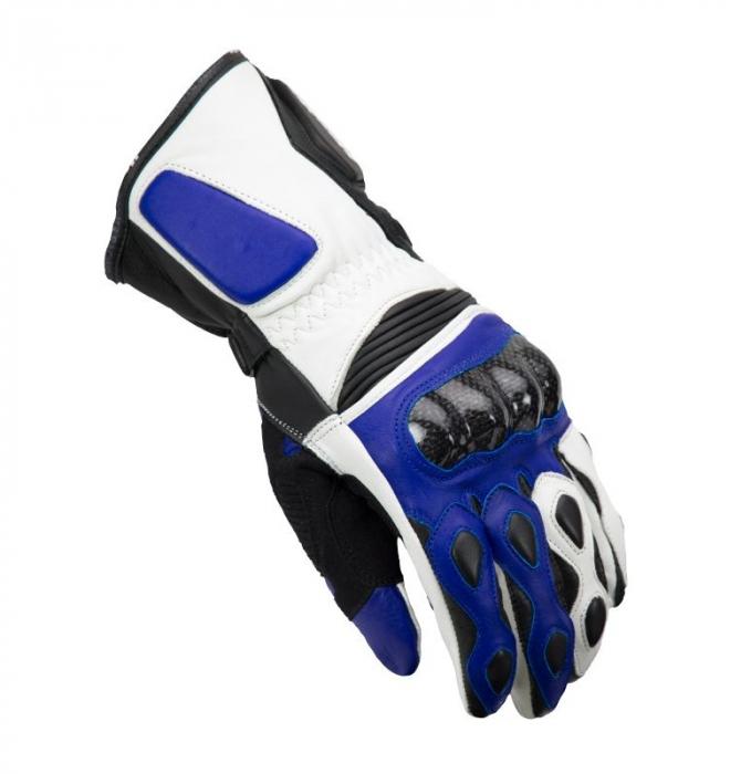 Manusi racing barbati Unik Racing model R-4 carbon culoare: albastru – marime: M (8) [0]