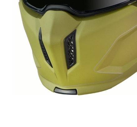 Masca (protectie) barbie casca MT Streetfighter SV A6 verde mat (ochelari soare integrati) [0]