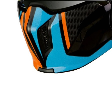 Masca (protectie) barbie casca MT Streetfighter SV Twin A4 portocaliu fluor mat (ochelari soare integrati) [0]