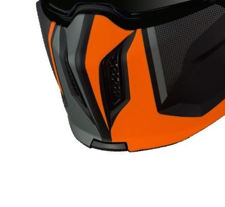 Masca (protectie) barbie casca MT Streetfighter SV Twin C4 portocaliu fluor mat (ochelari soare integrati) [0]