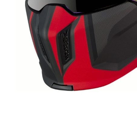 Masca (protectie) barbie casca MT Streetfighter SV Twin C5 rosu mat (ochelari soare integrati) [0]