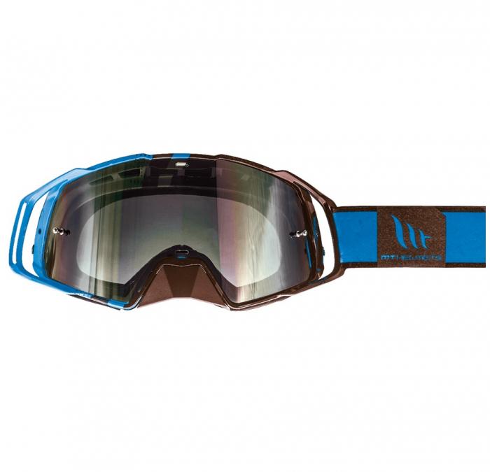 Ochelari MT off road (cross-enduro) MX EVO Stripes – culoare negru/albastru [0]