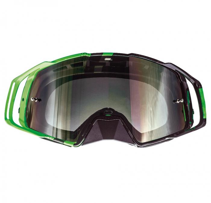 Ochelari MT off road (cross-enduro) MX EVO Stripes – culoare negru/verde fluor [1]
