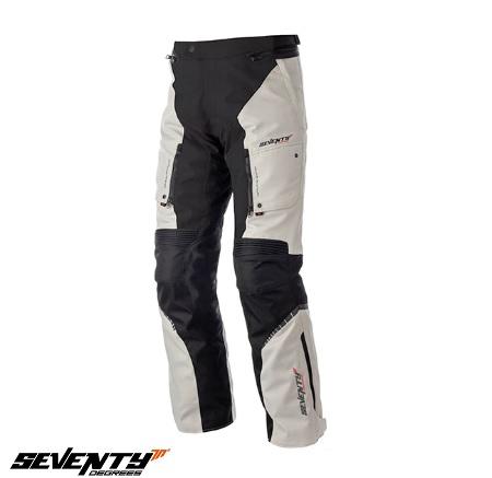 Pantaloni motociclete Touring unisex Seventy vara/iarna model SD-PT1 culoare: negru/gri [0]