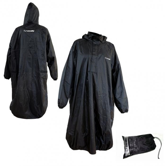 Pelerina impermeabila ploaie (poncho) Unik Racing culoare: negru – marime XL/XXL [0]