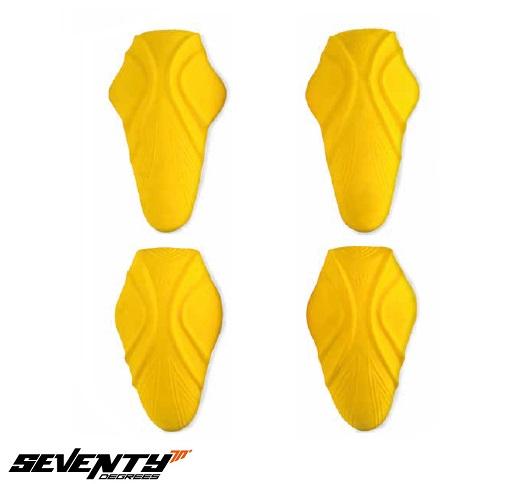 Set protectii umeri + coate Seventy model SD-A11 – culoare: galben – (set 4 bucati) [0]