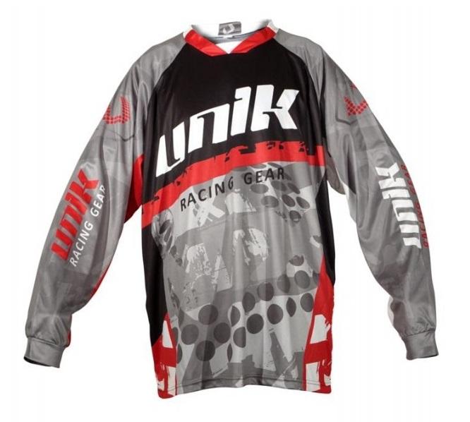 Tricou (bluza) cross-enduro Unik Racing model MX01 culoare: negru/rosu – marime XL [1]