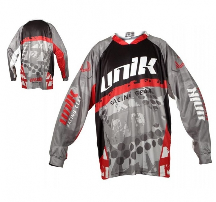 Tricou (bluza) cross-enduro Unik Racing model MX01 culoare: negru/rosu – marime XL [0]