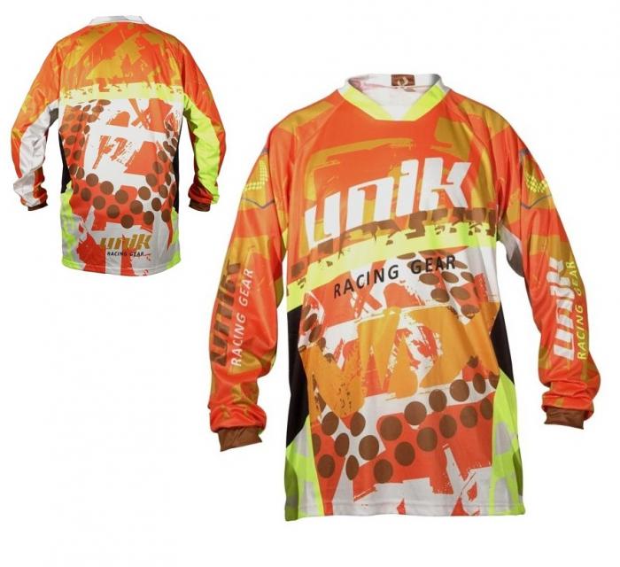 Tricou (bluza) cross-enduro Unik Racing model MX01 culoare: portocaliu fluor – marime L [0]