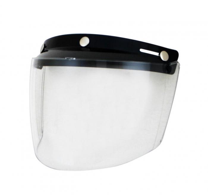 Viziera transparenta casca Custom Rider – Le Mans – Le Mans SV (cu cozoroc integrat) [0]