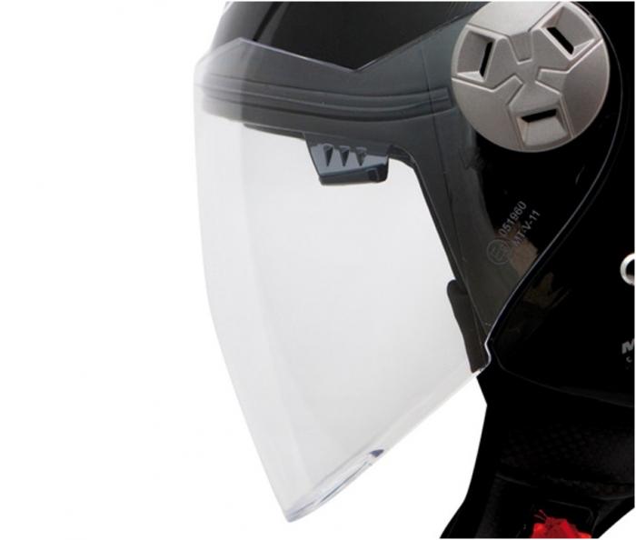 Viziera transparenta casca jet (open face) MT City Eleven SV [0]