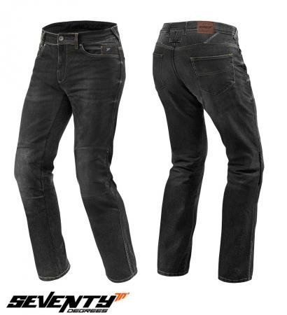 Blugi (jeans) moto barbati Seventy model SD-PJ2 tip Regular fit culoare: negru (cu insertii Aramid Kevlar) [0]