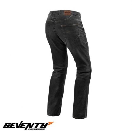Blugi (jeans) moto barbati Seventy model SD-PJ2 tip Regular fit culoare: negru (cu insertii Aramid Kevlar) [2]