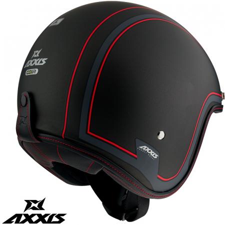 Casca Axxis model Hornet SV Royal B1 negru mat (ochelari soare integrati) [2]