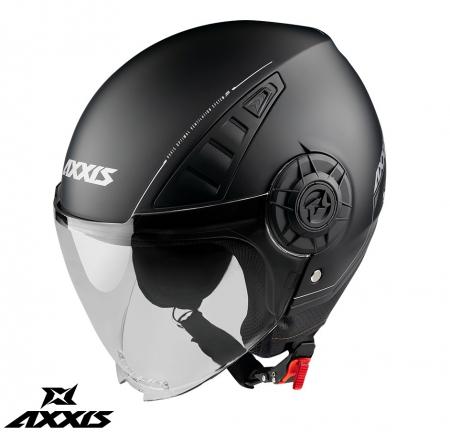 Casca Axxis model Metro A1 negru mat (open face) [0]