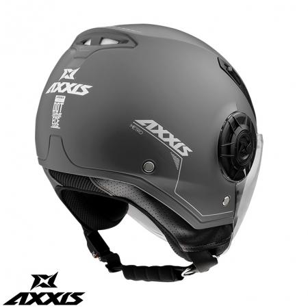Casca Axxis model Metro A2 titanium mat (open face) [1]