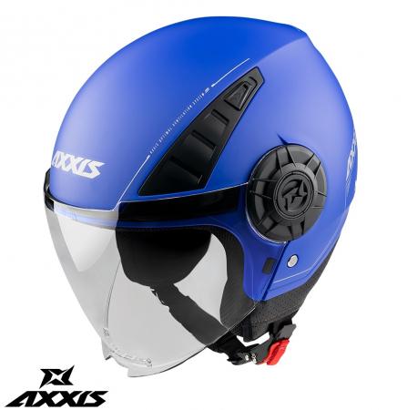 Casca Axxis model Metro A7 albastru mat (open face) [0]